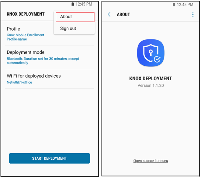 Using the Knox Deployment App