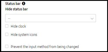 ProKiosk mode features