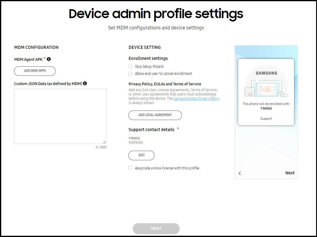 Create profiles   Knox Mobile Enrollment