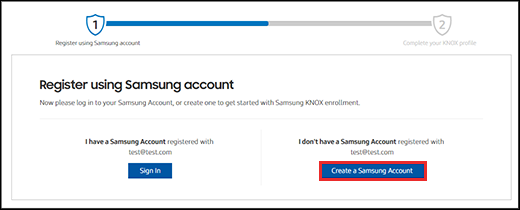 Register for a Knox Manage account | Samsung Knox