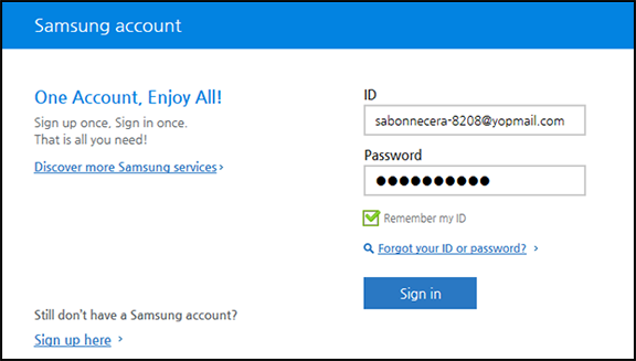 Sign up for Samsung accounts   Knox Premium