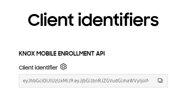 Generating your Client Identifier in the Knox Portal