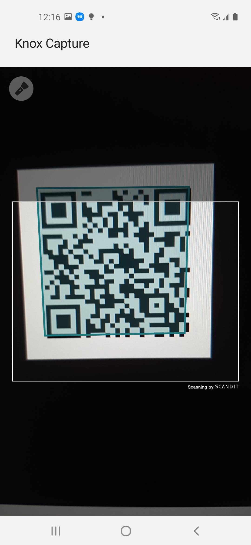 camera scanning ui