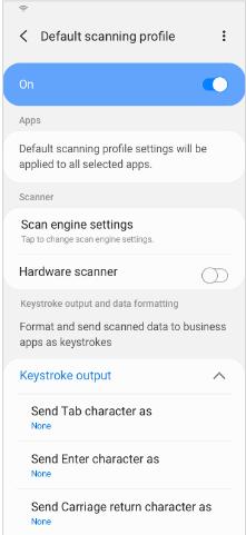 Default scanning profile toggle