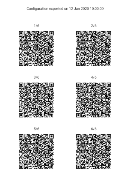 Multiple QR code export