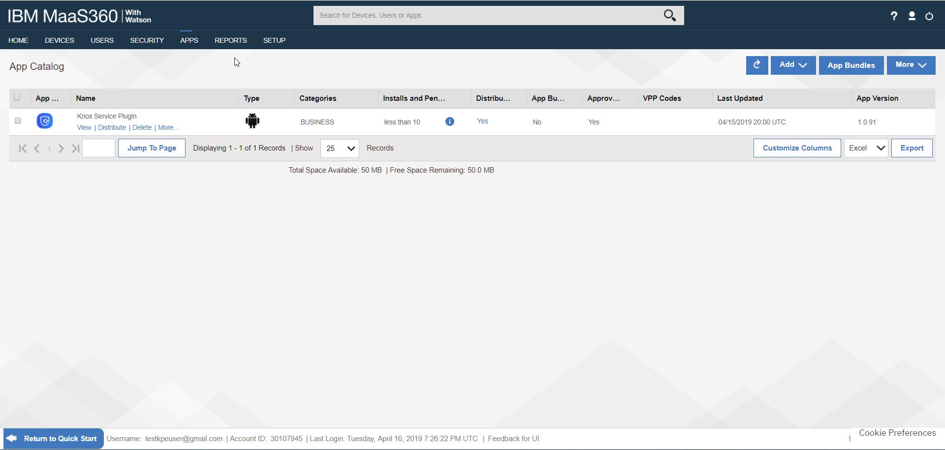 Deploy KSP - IBM MaaS360 App Catalog - List of Apps