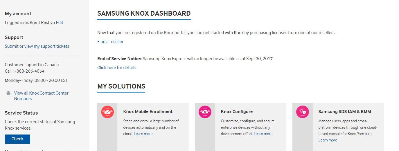 Minimum Requirements | Knox Platform for Enterprise Admin Guide