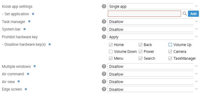 Kiosk Mode   Knox Platform for Enterprise Admin Guide