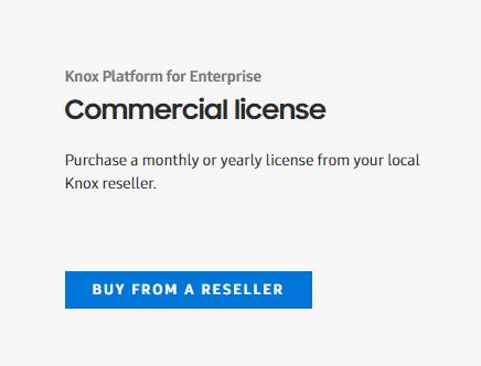 Get a Knox License | Knox Platform for Enterprise Admin Guide