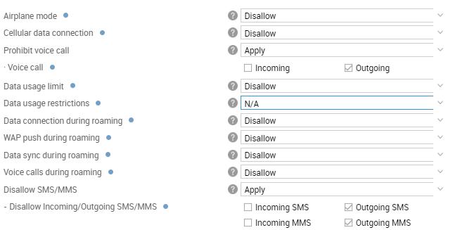 SMS / RCS / MMS | Knox Platform for Enterprise Admin Guide