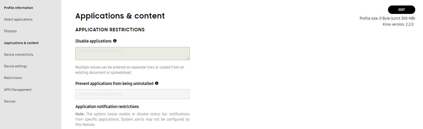 Customize a Setup profile